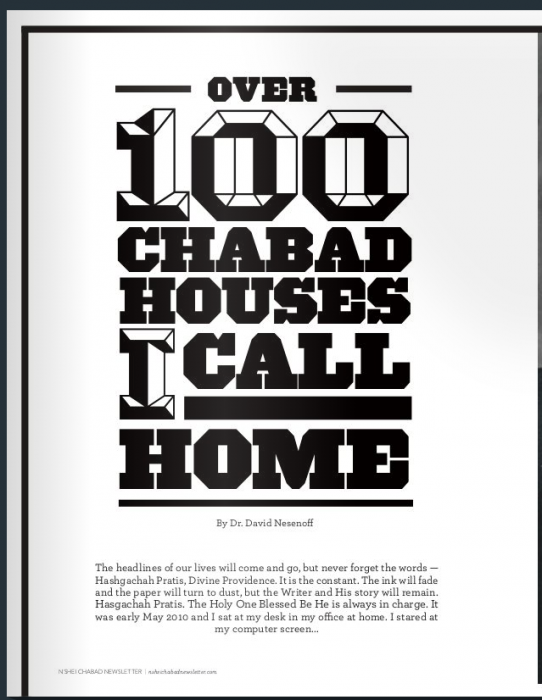 Over 100 Chabad Houses I Call Home