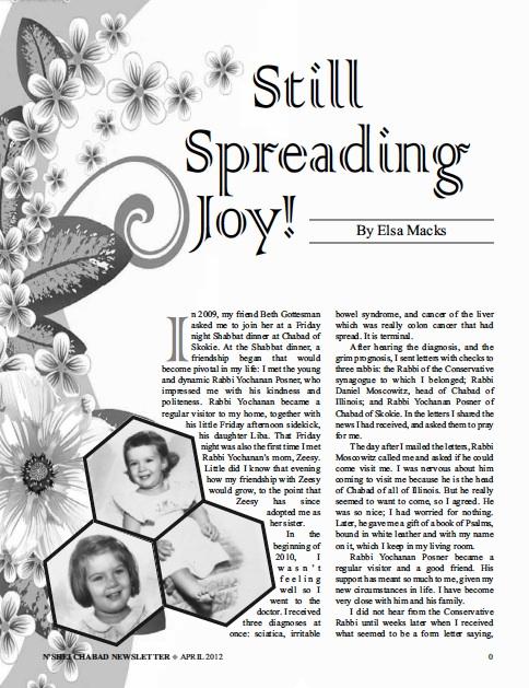 Still Spreading Joy! By Elsa Macks