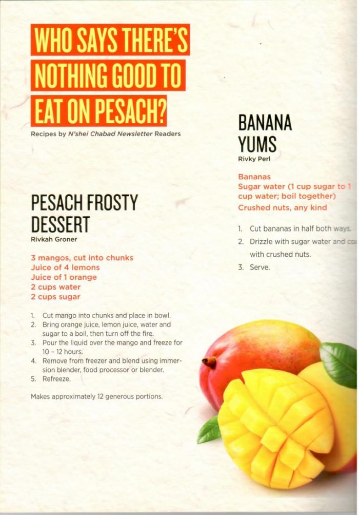 Pesach Recipes