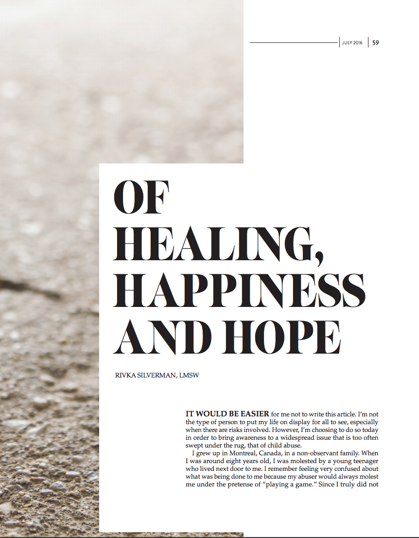 Of Healing, Happiness and Hope