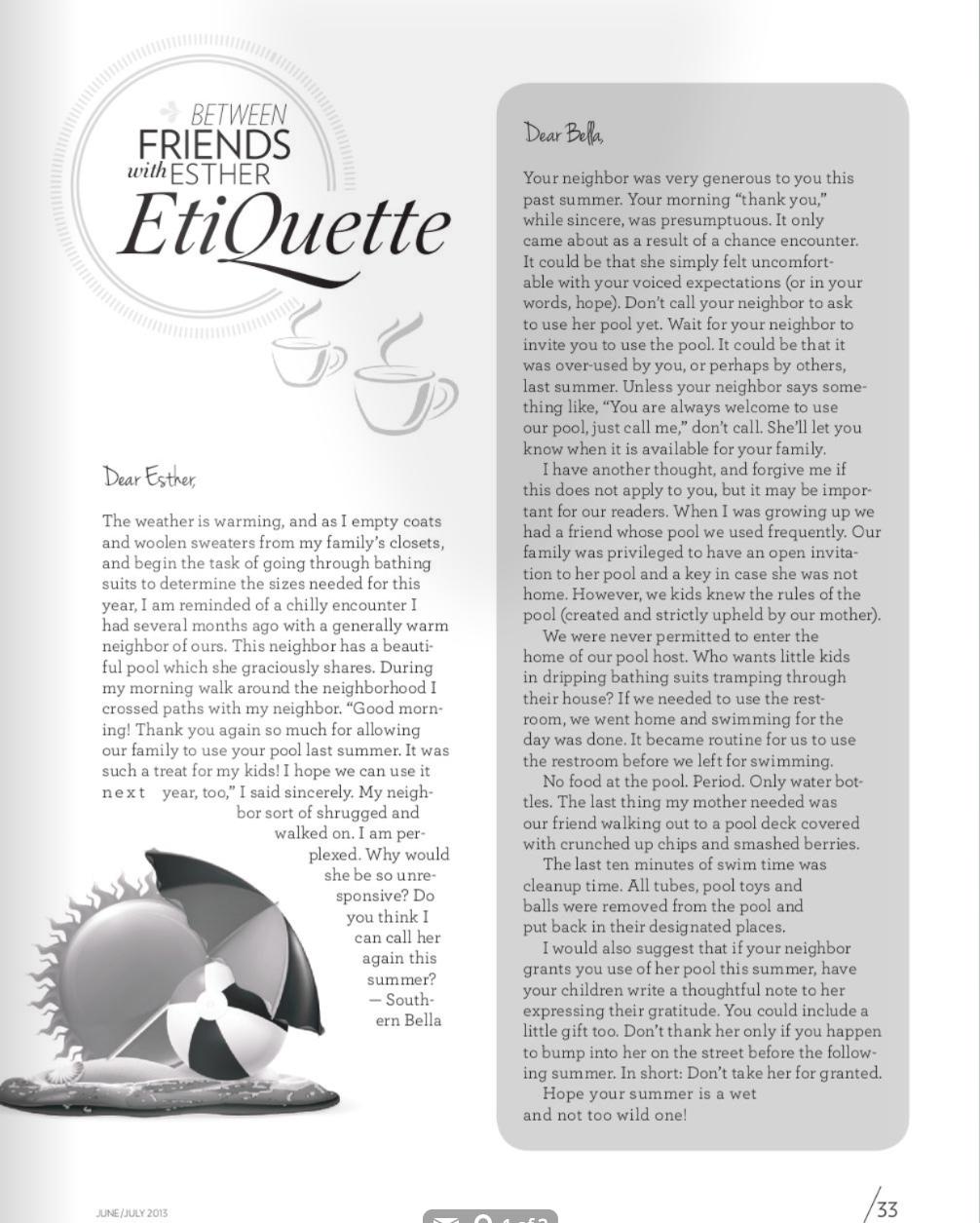 Esher EtiQuette