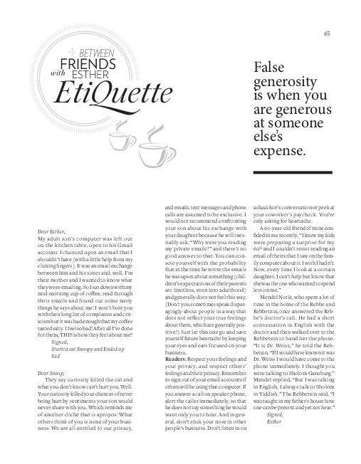 Esther EtiQuette